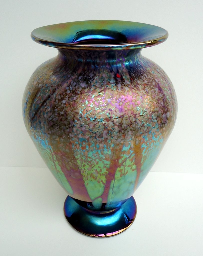 Spring                     large wide footed vase