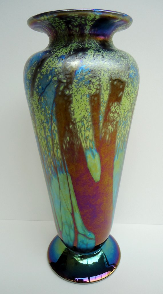 Summer                     footed vase