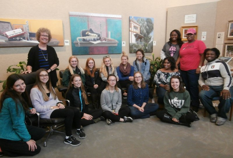 MSU art and poetry class