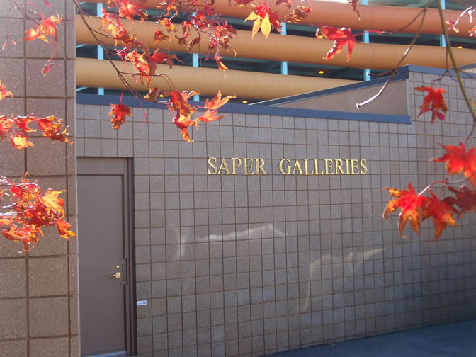 Back                                 entrance to Saper Galleries