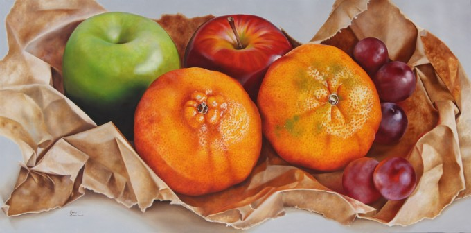 Fruit on                     paper