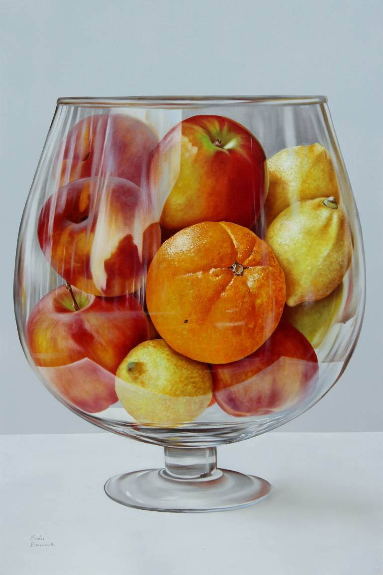 Glass                     with fruit