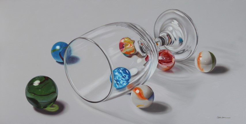 Marbles and glass