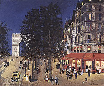 Terrasse de Cafe aux Champs-Elysees