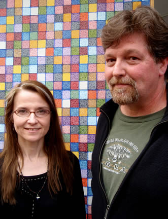 Jennifer and artist David                                     Eckert