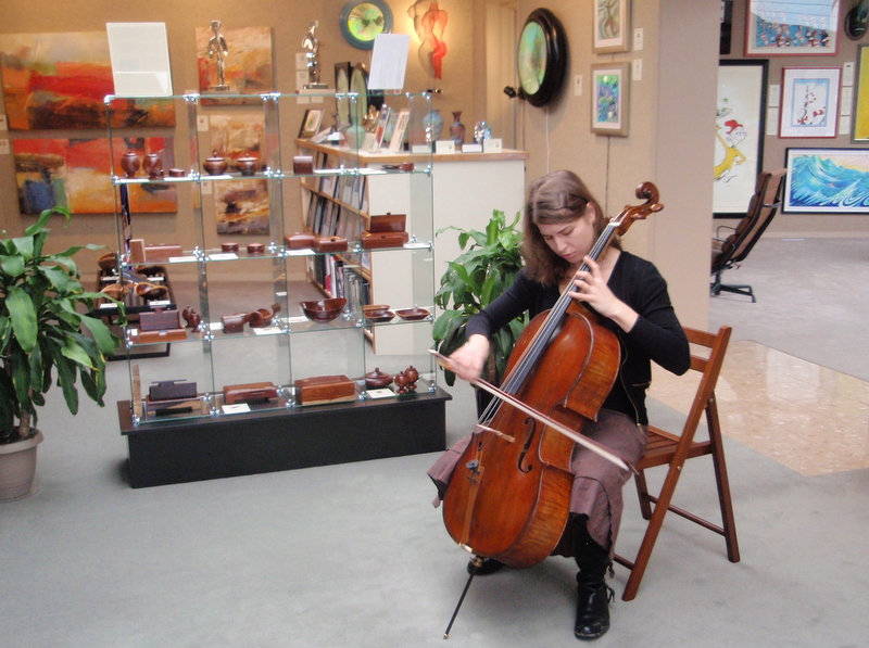 Elena Korableva performing at                                   Saper Galleries