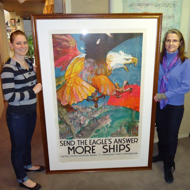 Elisa and Jennifer with large frame