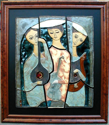 Three Musicians                 (Framed)