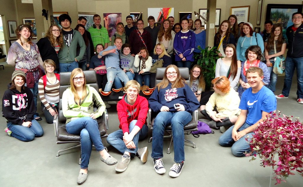 Fowlerville High School art                                   students