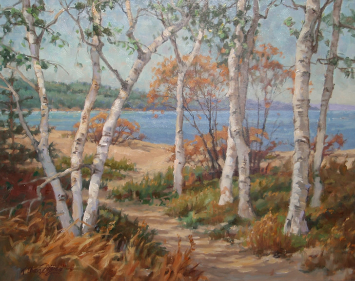 Birches on Lake Charlevoix