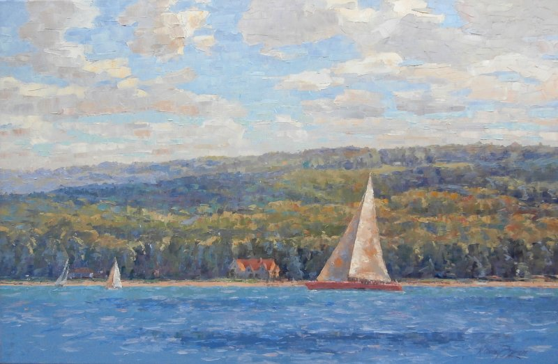 Sailing Lake Charlevoix