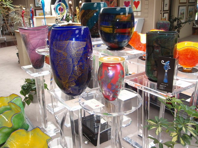 Sample of west gallery glass selections