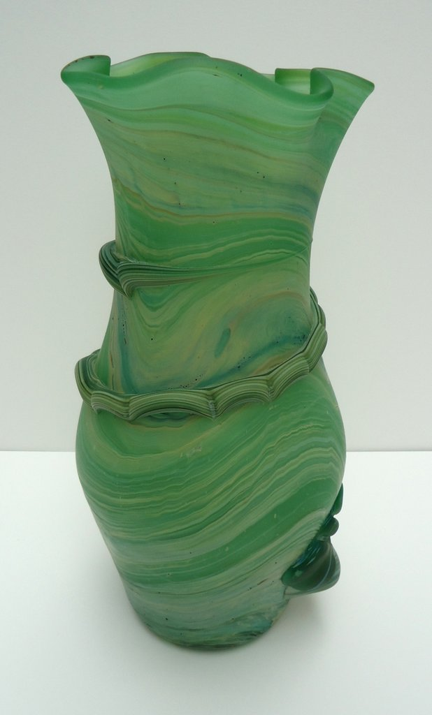 Large vase                   wrapped with fluted top