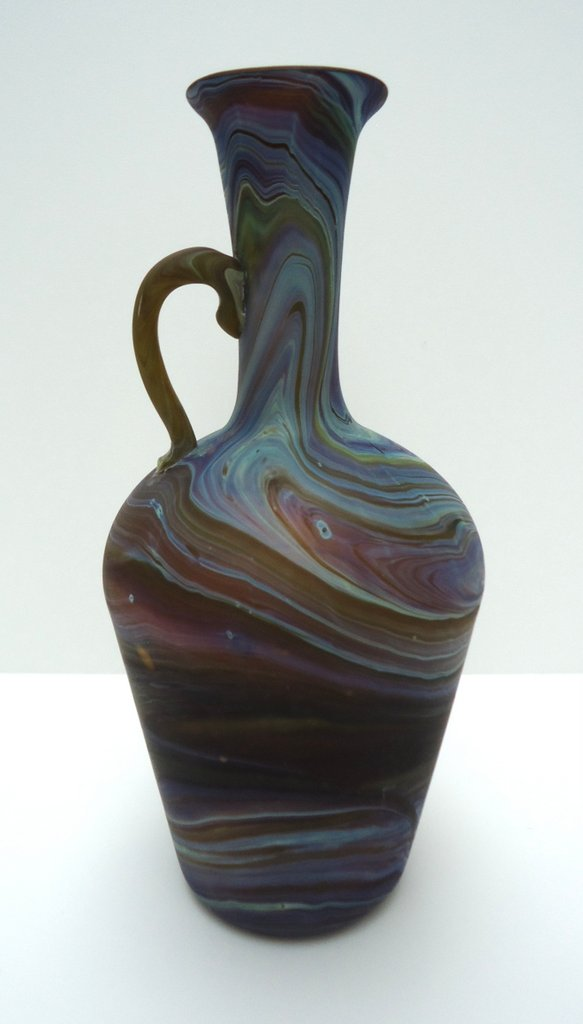 Vase with                   handle