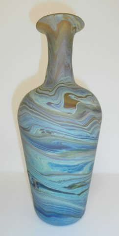 Elongatedneck tall vase