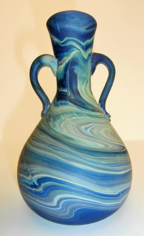 Two handle swirl                   vase