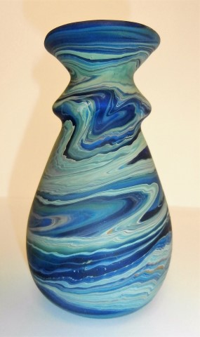 Double neck vase                   swirl