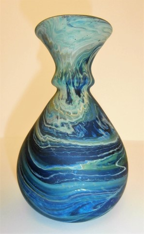 Swirl double neck                   vase