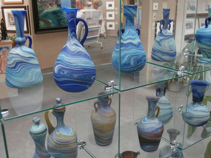 Hebron glass displayed today