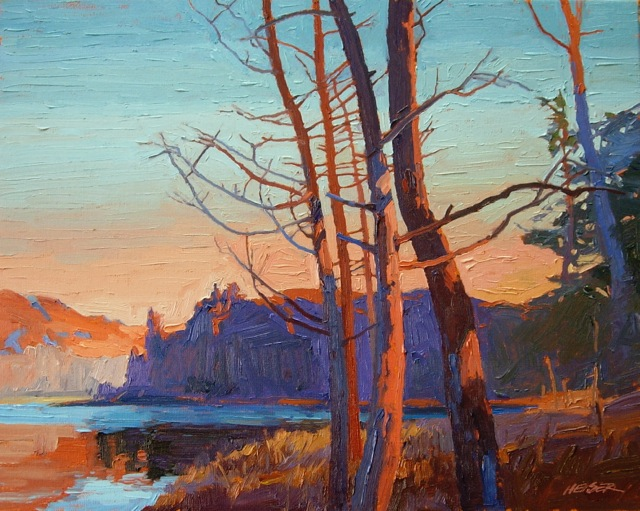 Lou Heiser Michigan oil paintings