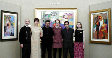 Roy, Hessam, and the Saper Galleries team