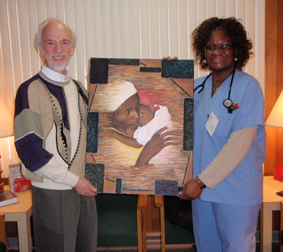 Painting contributed to His Healing                                 Hands Health Clinic