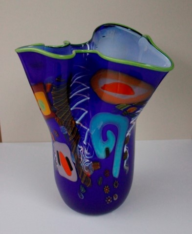 Blue                       Fluted Extra Large Vase