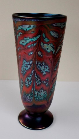 Footed flared cylinder vase