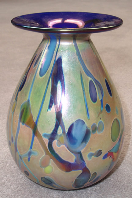 Mini Blue Rim Vase with narrow neck