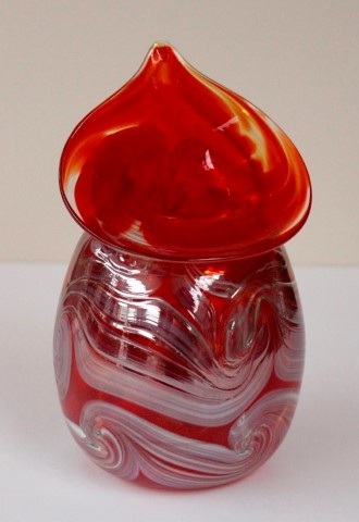 Red                       tapered mini vase