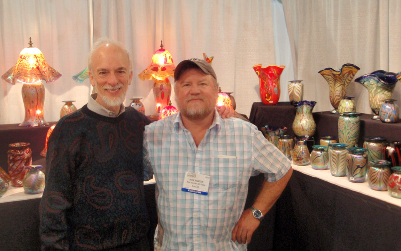 Roy Saper with artist Rick Hunter