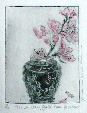 French Vase Galle Plum Blossom