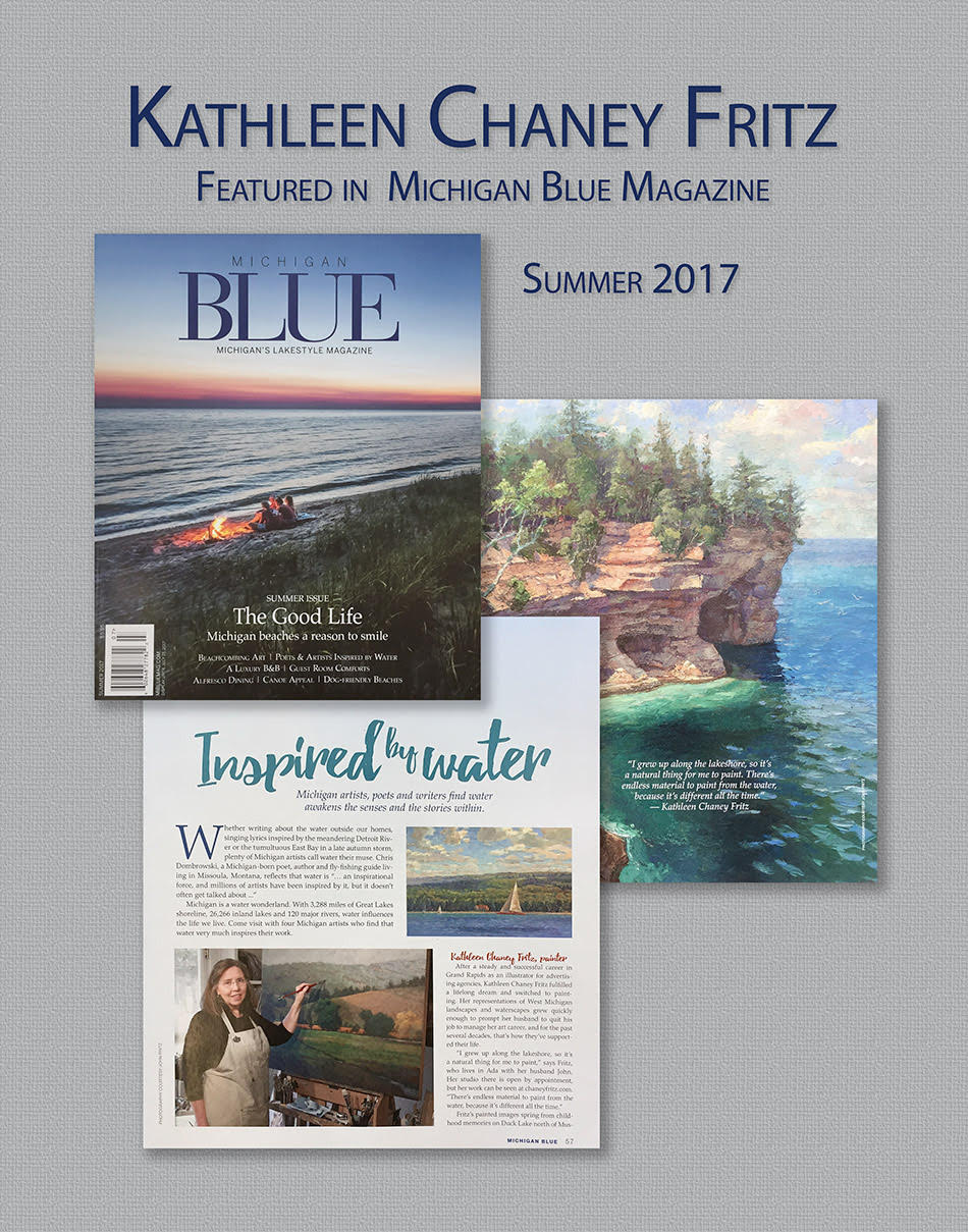 Fritz featured in Michigan                     Blue Magazine, Summer 2017
