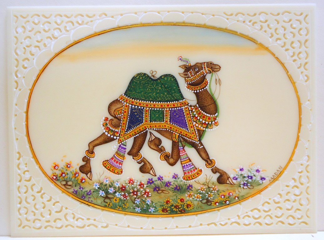 Camel with green