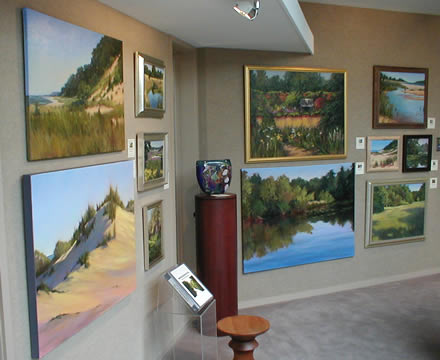 McCleary                         paintings on display