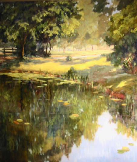 Summer Morning By The Pond