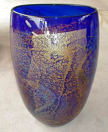 Blue with Gold Vase