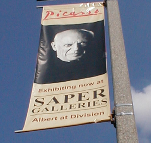 Saper Galleries Picasso Banner