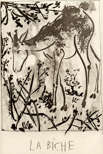 Deer                       etching from 1936