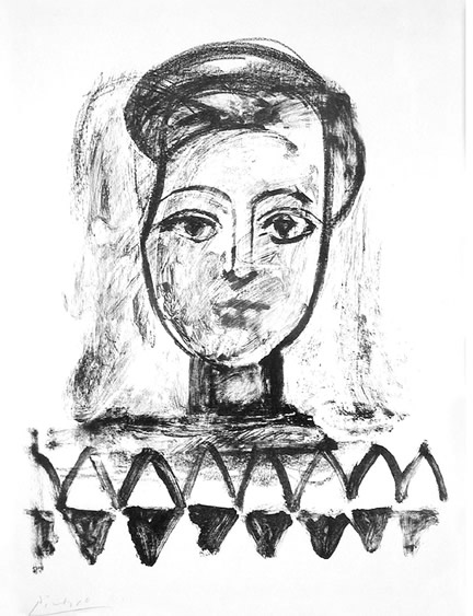 Wash drawing                       and crayon transferred to litho stone, 1947