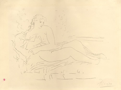 Femme Couchee,                       1924 etching