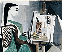 Oil painting of Jacqueline, 1956