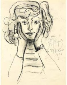 1951 St Tropez drawing of Laporte