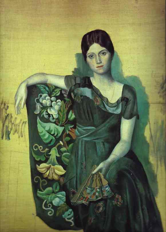 Portrait of Olga in an Armchair, 1917
