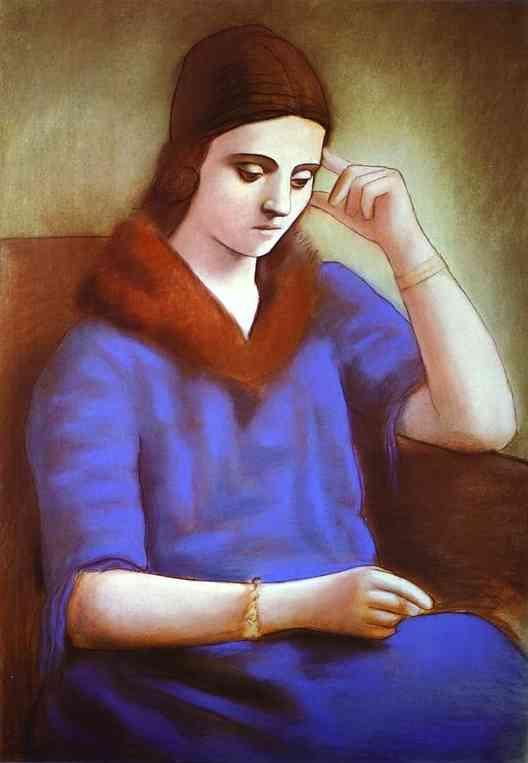 Pastel of Olga 1922-23