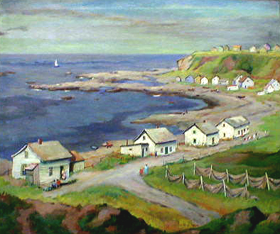 Fishing Houses in Gaspe Peninsula Canda                   1939