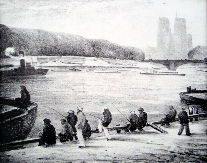 Fishing on the Seine