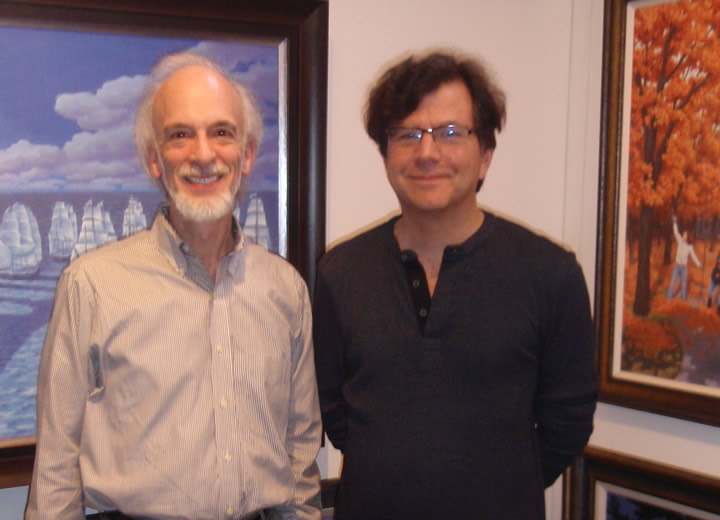 Roy Saper and artist Rob                                           Gonsalves