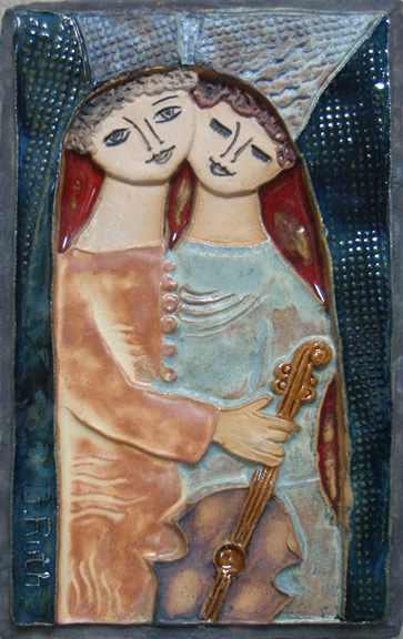 Couple with Instrument