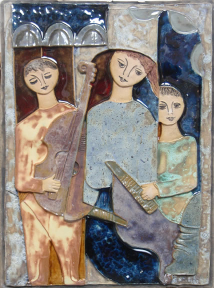 Three Figures and Instruments